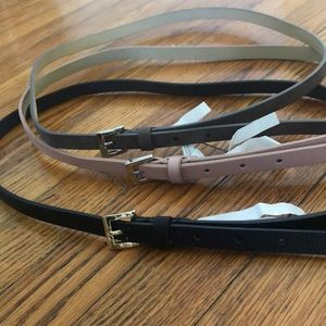 A New Day. 3 Colored Skinny Belts.